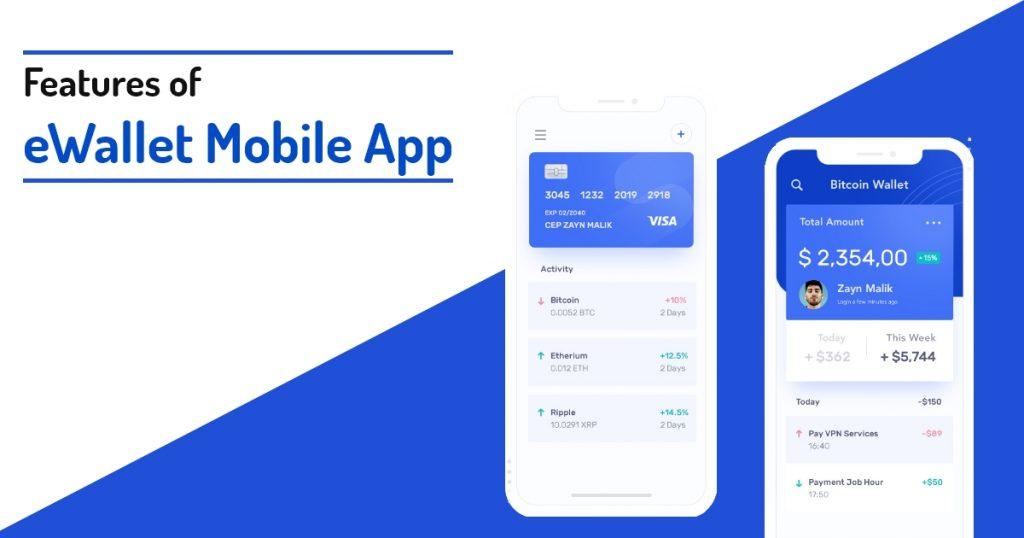 Features of eWallet Mobile App